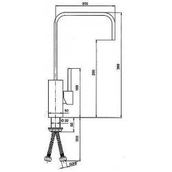 Смеситель кухонный SCHOCK AQUAQUADRO Alumina-04 (73100004)