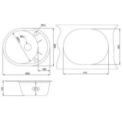 Кухонная мойка Minola MOG 1155-63 базальт