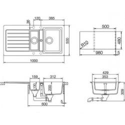Гранитная мойка Schock Typos D150 Croma-49