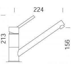 Смеситель кухонный SCHOCK SC50 Inox-12 (50300012)