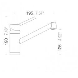 Смеситель кухонный SCHOCK Pila Chrom-80 (54100080)