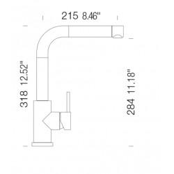Смеситель кухонный SCHOCK SC300 Bronze-87 (59712087)