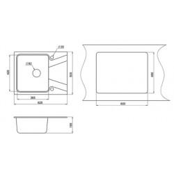 Кухонная мойка Minola MPG 1140-62 черный