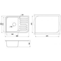 Кухонная мойка Minola MPG 71145-70 антрацит