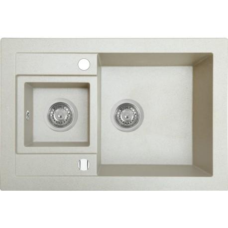 Кухонная мойка Perfelli GRANZE PGG 506-67 LIGHT BEIGE