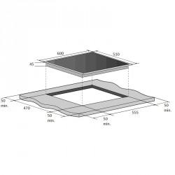 Варочная поверхность Fabiano FHG 11-44 GH-T White Glass