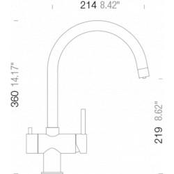 Смеситель кухонный SCHOCK ARES Onyx-10
