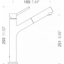 Смеситель кухонный SCHOCK Dion Bronze-87 (510120)