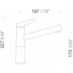 Смеситель кухонный Schock SC 510 (554000) Carbonium-90