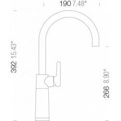 Смеситель кухонный Schock SC 520 (555000) Magma-97