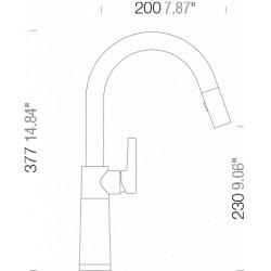 Смеситель кухонный Schock SC 520 (555120) Beton-42