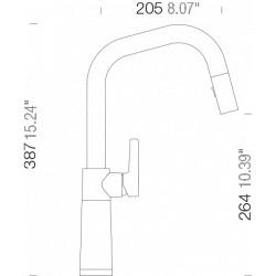 Смеситель кухонный Schock SC 530 (556120) Magma-97