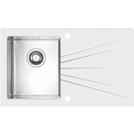 Кухонная мойка Alveus Karat 10L white белое стекло
