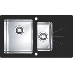 Кухонная мойка Alveus Karat 20L Black черное стекл
