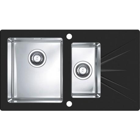 Кухонная мойка Alveus Karat 20L Black черное стекло