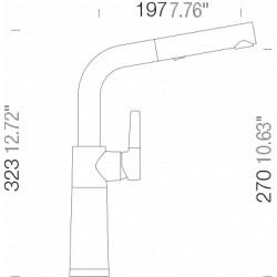 Смеситель кухонный Schock SC 540 (557120) Inox-12