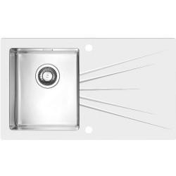 Кухонная мойка Alveus Karat 10R white белое стекло