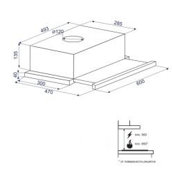 Вытяжка Minola HTL 6160 I/WH GLASS 630