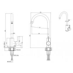 Смеситель кухонный ELLECI C01 AVENA 51