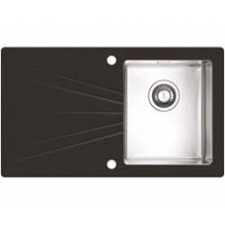 Кухонная мойка Alveus Karat 10L black черное стекл