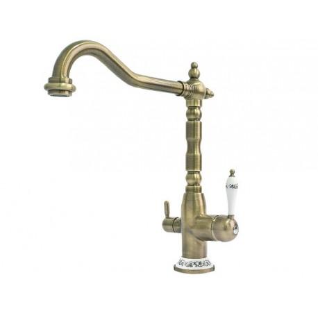 Смеситель кухонный Fabiano FKM-31.8 Brass-Antique
