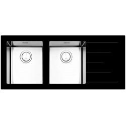 Кухонная мойка Apell PURA PU1162IRBC черное стекло