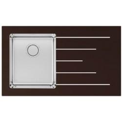 Кухонная мойка Apell PURA PU861IRBC черное стекло