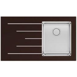 Кухонная мойка Apell PURA PU861ILBC черное стекло