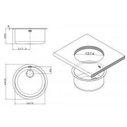 Кухонная мойка Apell FERRARA FE435UBC