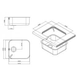 Кухонная мойка Apell FERRARA FE450UBC