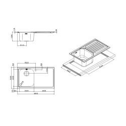 Кухонная мойка Apell Venezia VE791ILAC