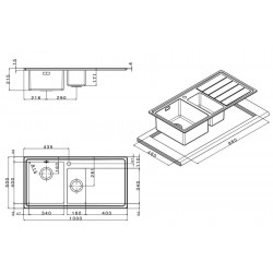 Кухонная мойка Apell LINEAR PLUS LNP1002FRBC