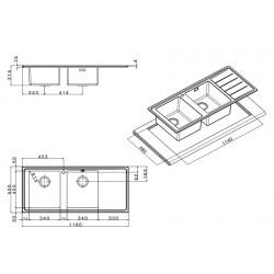 Кухонная мойка Apell LINEAR PLUS LNP1162FLBC