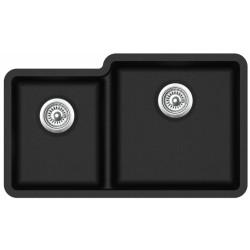 Гранитная мойка AQUASanita Arca SQA230R черный металлик