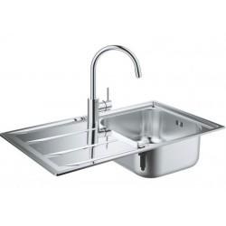 Кухонная мойка Grohe Sink 31570SD0 со смесителем Concetto 32663001