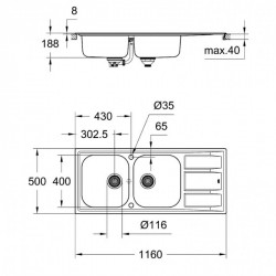 Кухонная мойка Grohe Sink 31587SD0