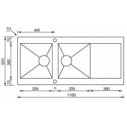 Кухонная мойка CM Revers 116x52 2V