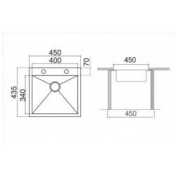 Кухонная мойка Asil AS 252-R 0 матовая