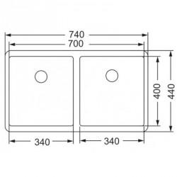 Кухонная мойка Asil AS 370-R15 полированная