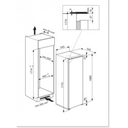 Встраиваемая морозильная камера WHIRLPOOL AFB 1840 A+