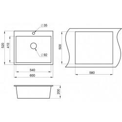 Кухонная мойка Minola MPG 1060-60 антик