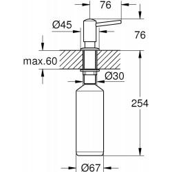 Дозатор Grohe Contemporary 40536DC0
