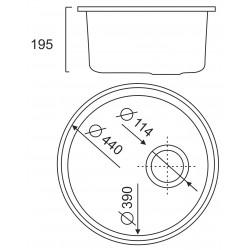 Кухонная мойка Ula 7102 ZS матовая