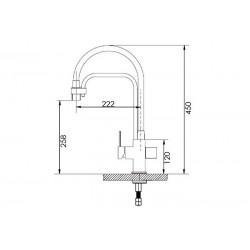 Смеситель кухонный Fabiano FKM 31.11 Alpine White