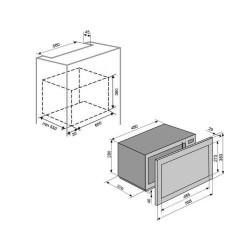 Встраиваемая микроволновая печь VENTOLUX MWBI 20 BG