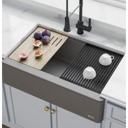 Кухонная мойка Kraus KGF1-30CHARCOAL
