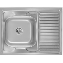 Кухонная мойка Imperial 6080 декор левая