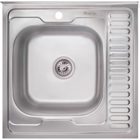 Кухонная мойка Imperial 6060 полированная левая