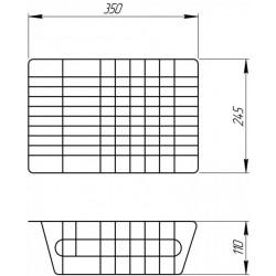 Универсальная корзина для любой мойки ULA 401