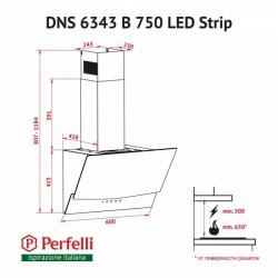 Вытяжка Perfelli DNS 6343 B 750 IV LED Strip